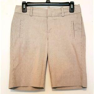 Banana Republic Martin Fit Gray Pinstripe Shorts